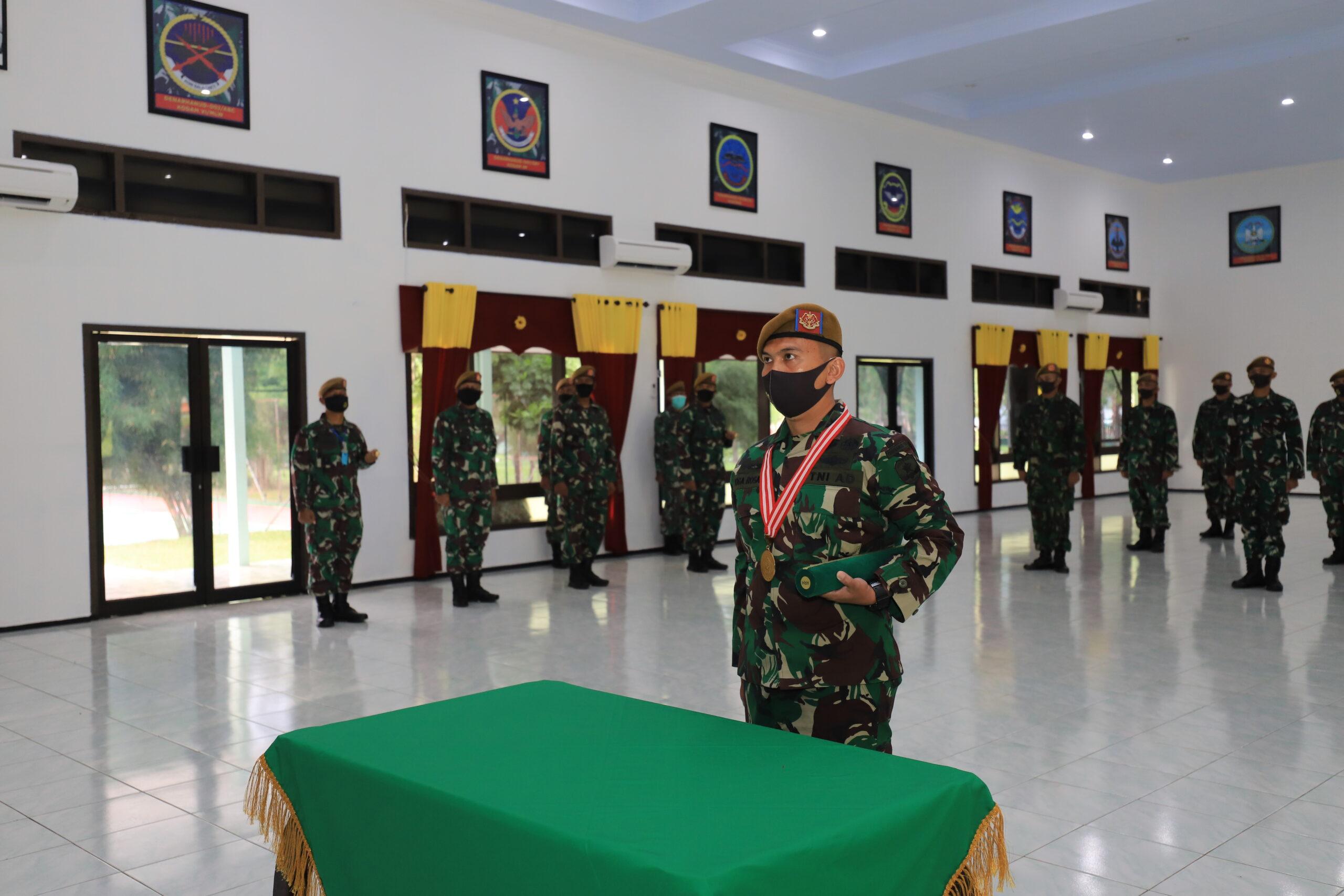 PUSDIKARHANUD IKUTI UPACARA PENUTUPAN DIKLAPA II KECABANGAN TNI AD SECARA VIRTUAL