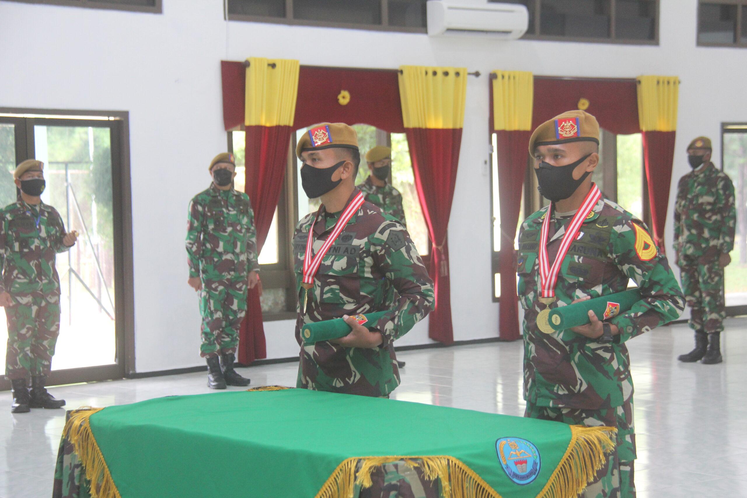 PUSDIKARHANUD IKUTI UPACARA PENUTUPAN PENDIDIKAN KECABANGAN PERWIRA TNI AD TA 2020 SECARA VIRTUAL