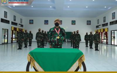 PUSDIKARHANUD IKUTI UPACARA PENUTUPAN DIKLAPA I KECABANGAN TNI AD TA 2021 SECARA VIRTUAL